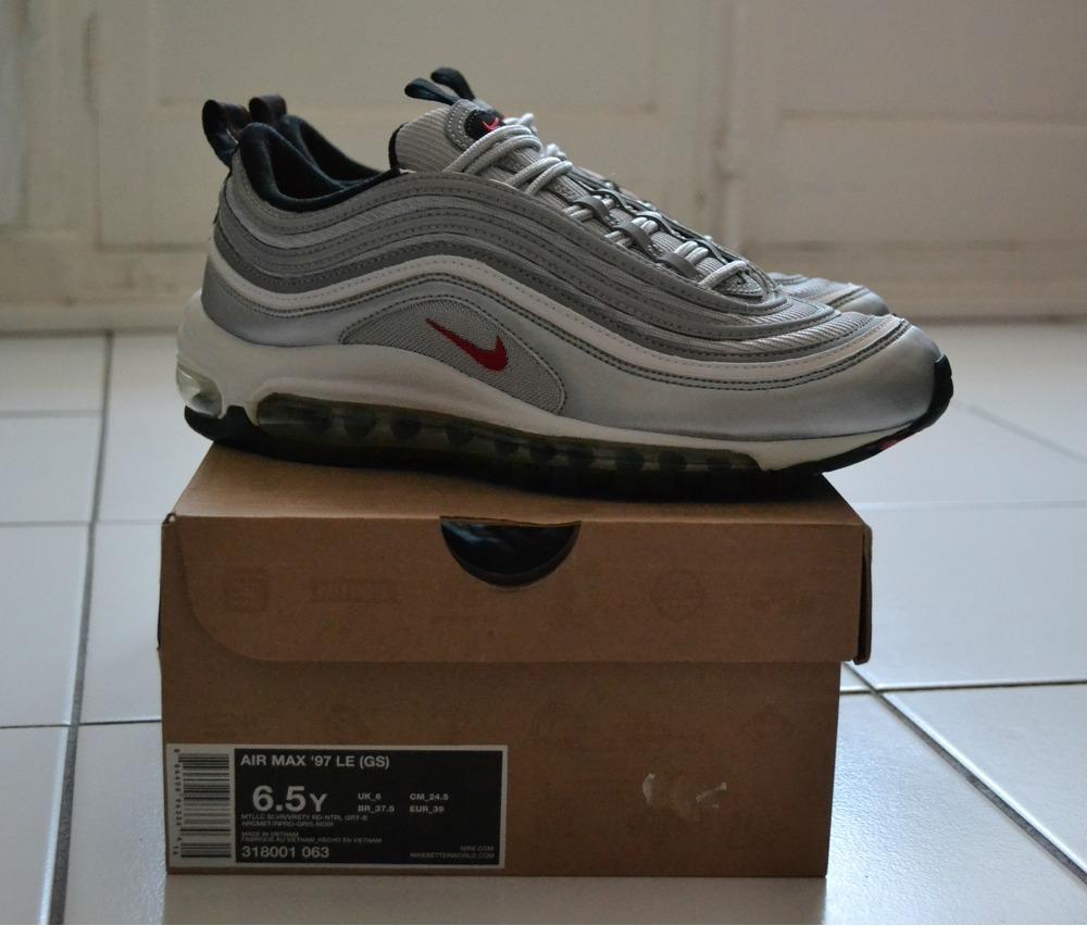 Nike Air Max 97 Gs Silver Bullet Og