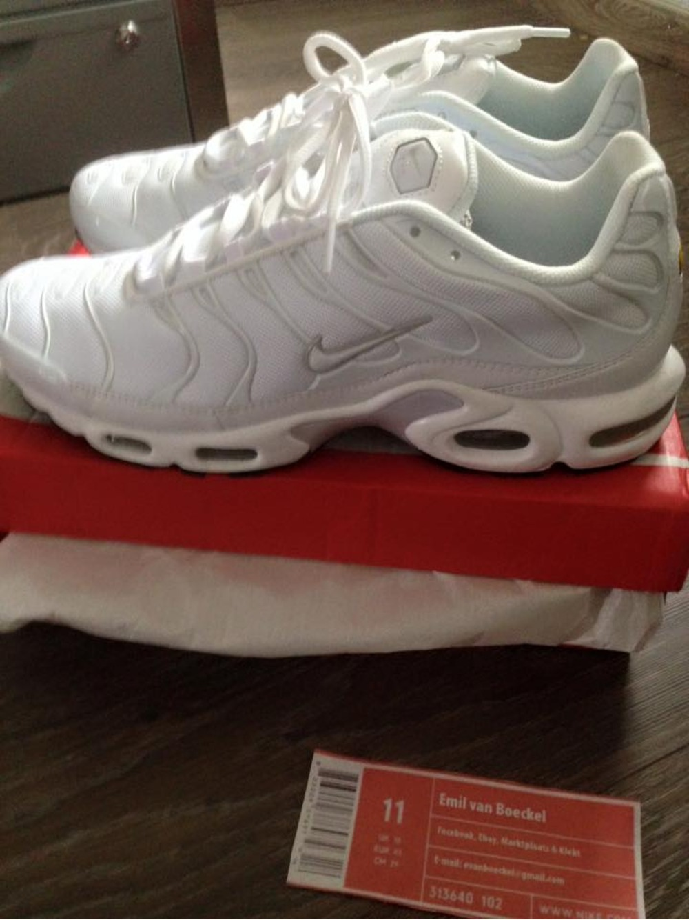 nike tn air max white