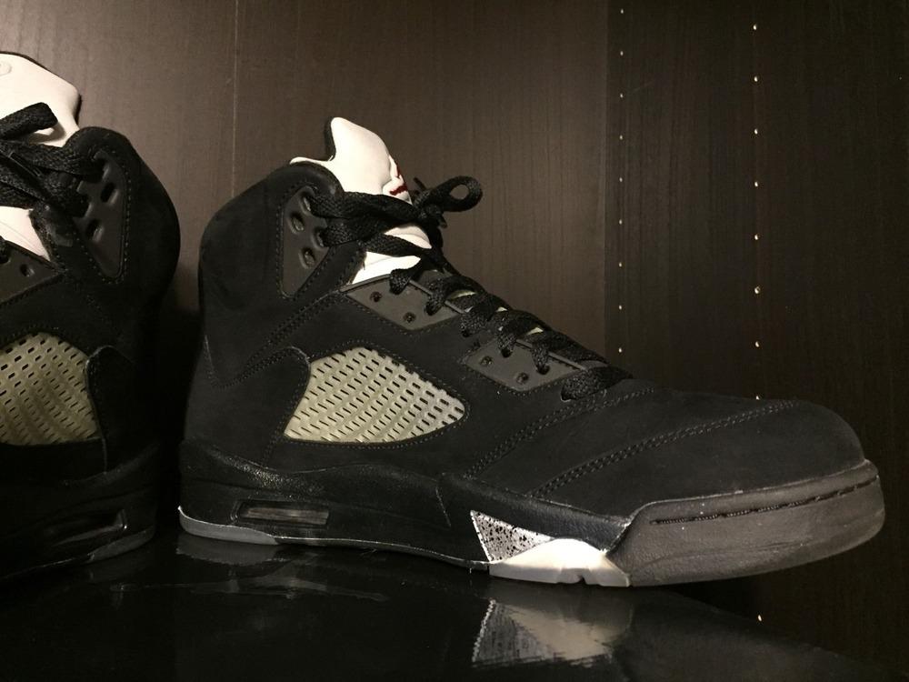 db813d51e61 ... 2011 Nike Air Jordan 5 V Retro Black Red Metallic 136027 010 - Size  11.5 ...