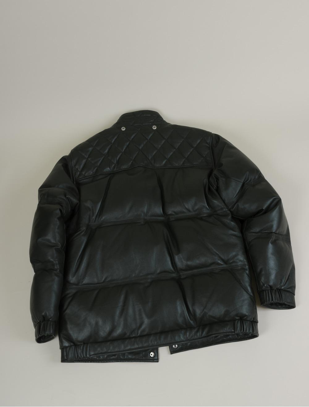 Supreme leather down jacket