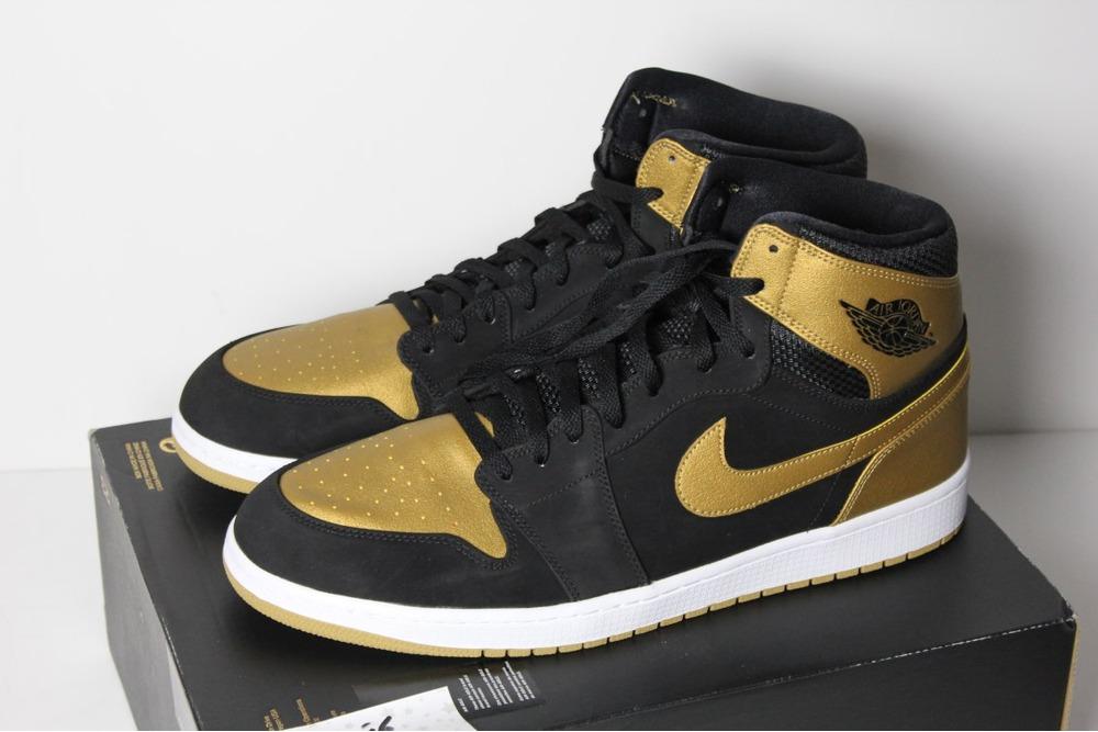 best loved 68e9b 3f32f Nike Air Jordan 1 Retro High PE Melo QS DS 16 50.5 Gold Carmelo Bred OG
