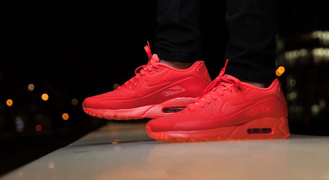 detailed look def62 aa622 Nike Air Max 90 Ultra Moire - Bright Crimson