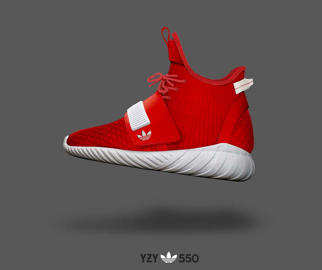 Adidas Yeezy 550 Red