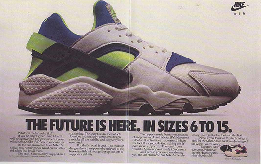 Nike Air Huarache , Original Ad 1991