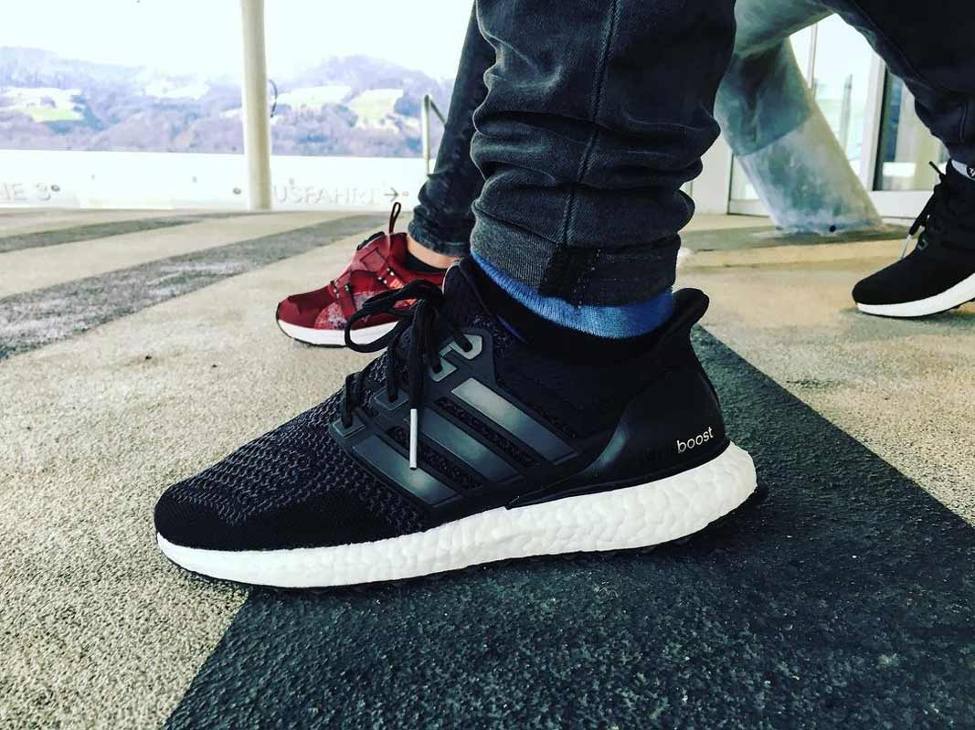Adidas Ultra Boost Core Black On Feet