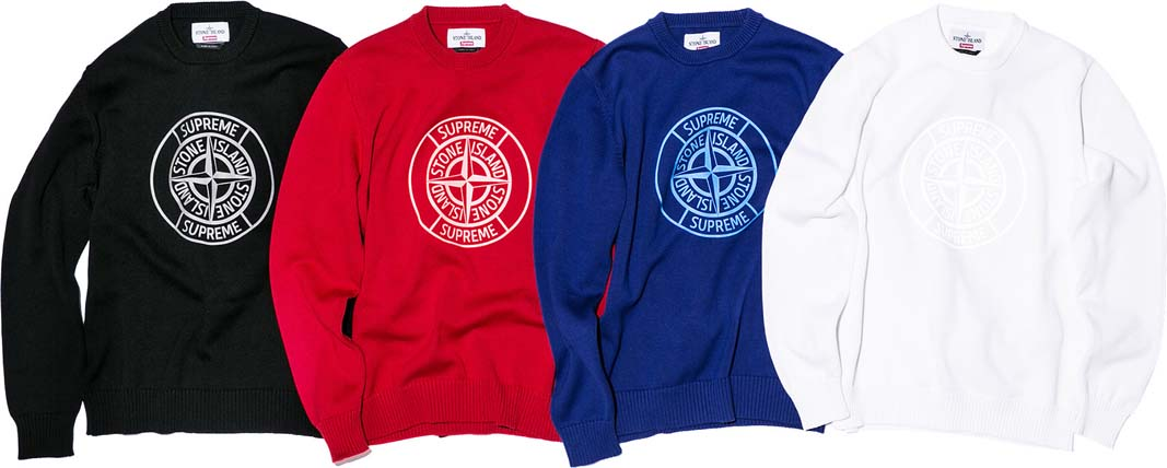 ad81f15760 Supreme x Stone Island - Spring 2016 collection - reflective compass  sweaters · Supreme x Stone Island - Spring 2016 collection - 1/4 zip long  sleeve tops