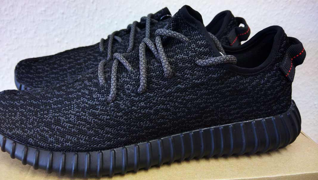 adidas YEEZY BOOST 350 Pirate Black (authentic) - laces