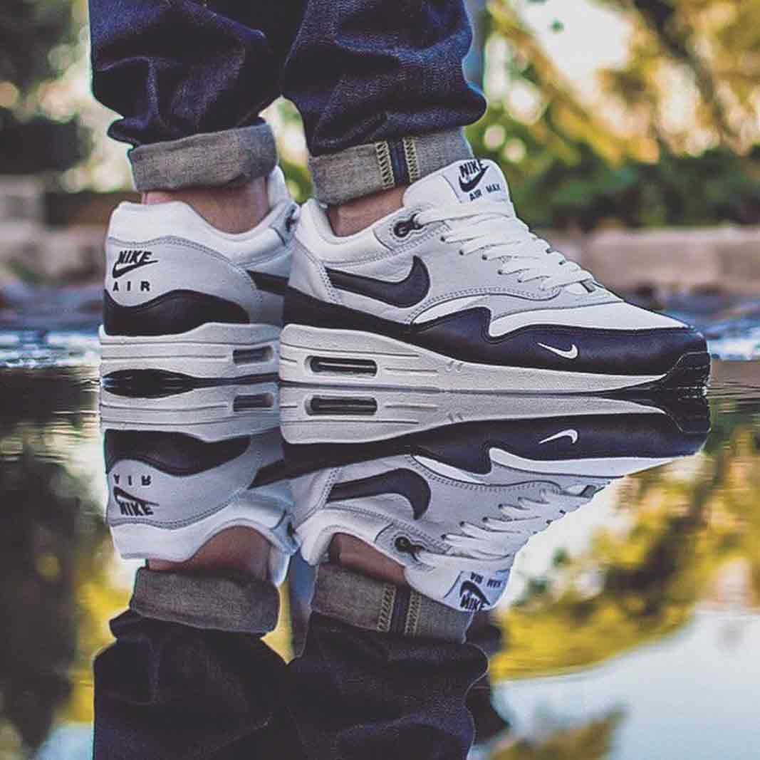 Nike Air Max 1 'Mini Swoosh Leather ID' by @pballs