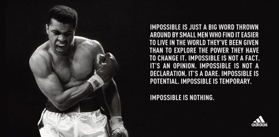 adidas Muhammad Ali - Impossible Is Nothing