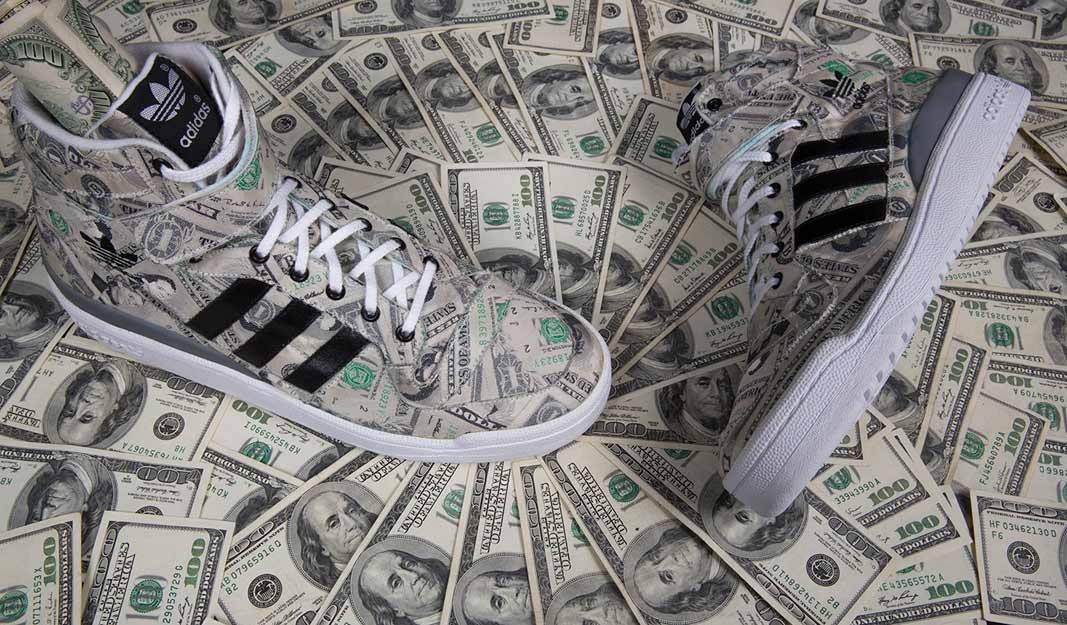 adidas Jeremy Scott Forum Hi Dollar Bill