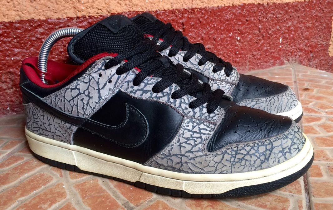 cheap for discount 434d4 ab4ce Supreme x Nike Dunk Low Pro SB Black Cement on KLEKT