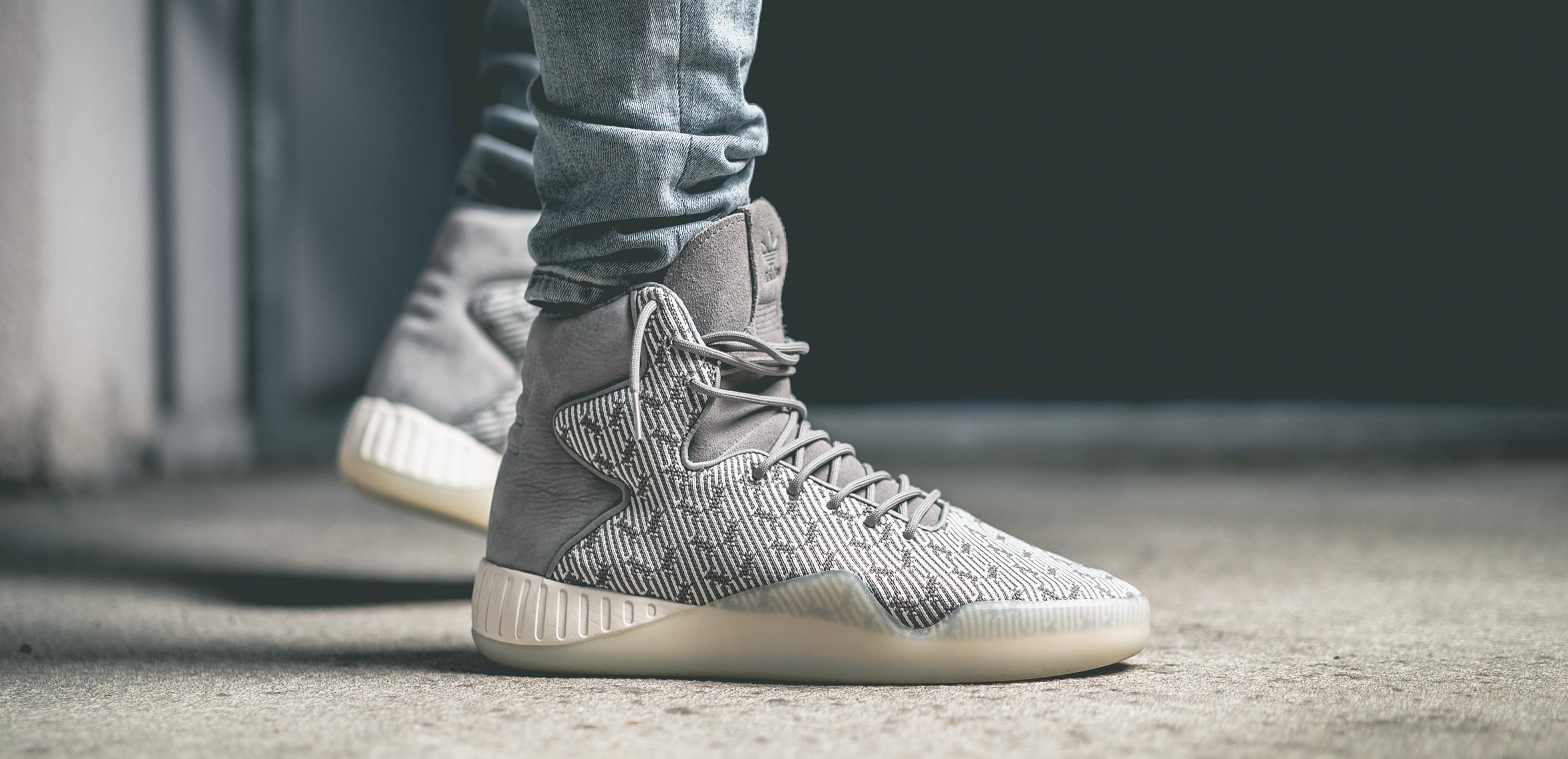 Adidas originals tubular instinct primeknit grey feather
