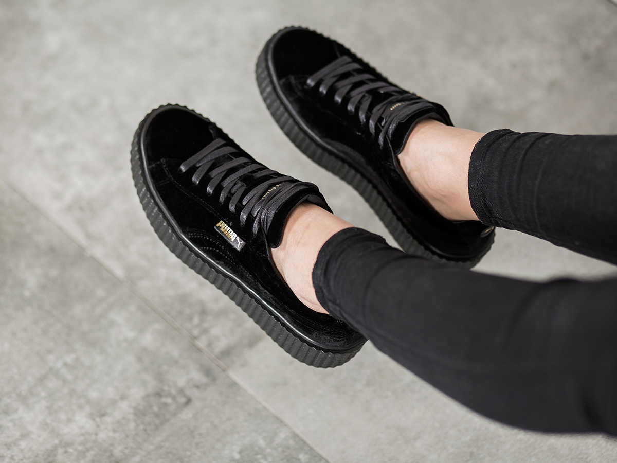 new concept 605c6 bfc44 Puma Fenty Creepers Velvet Black wearpointwindfarm.co.uk