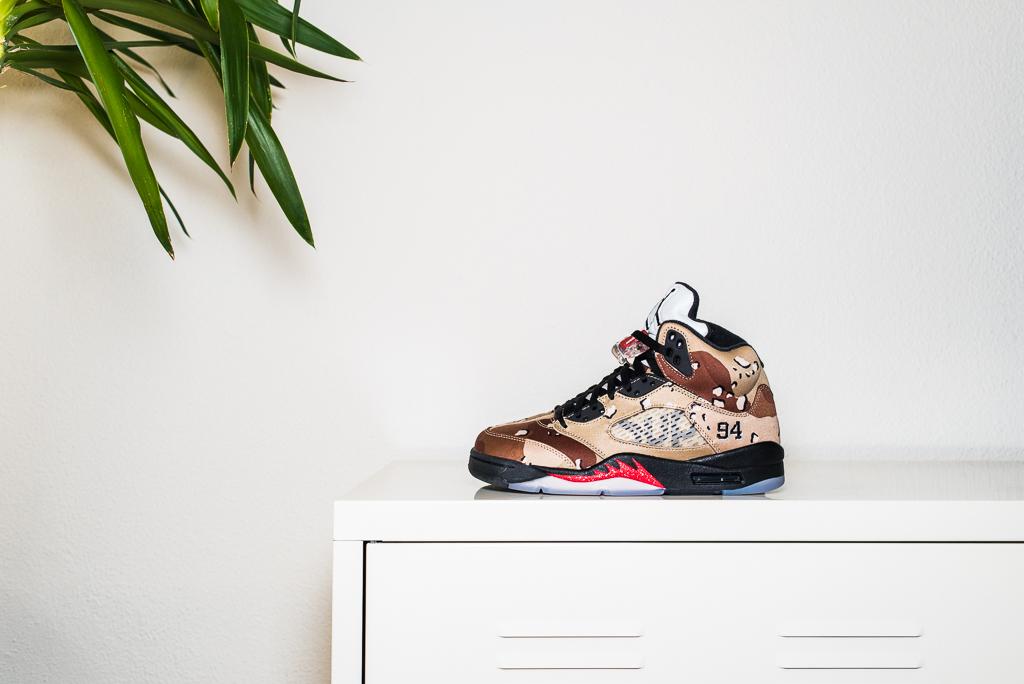 Supreme x Nike Air Jordan 5 V Desert Camo