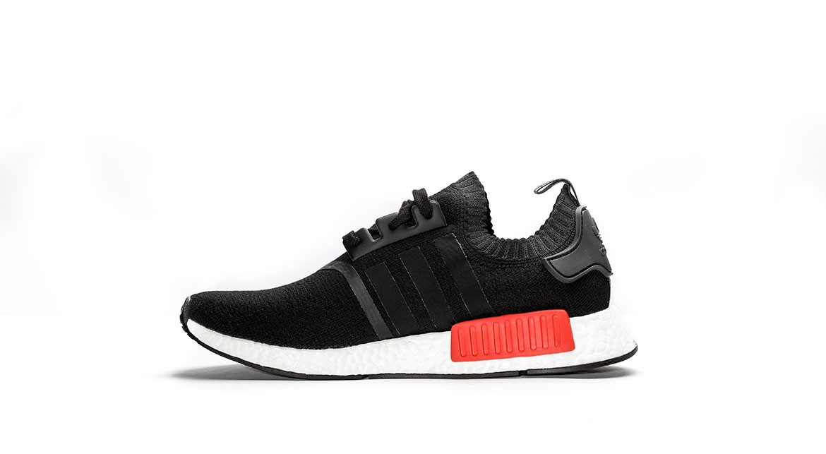 Adidas NMD R1 size 12.5. Grey Red Wool. 3M Reflective. S31510
