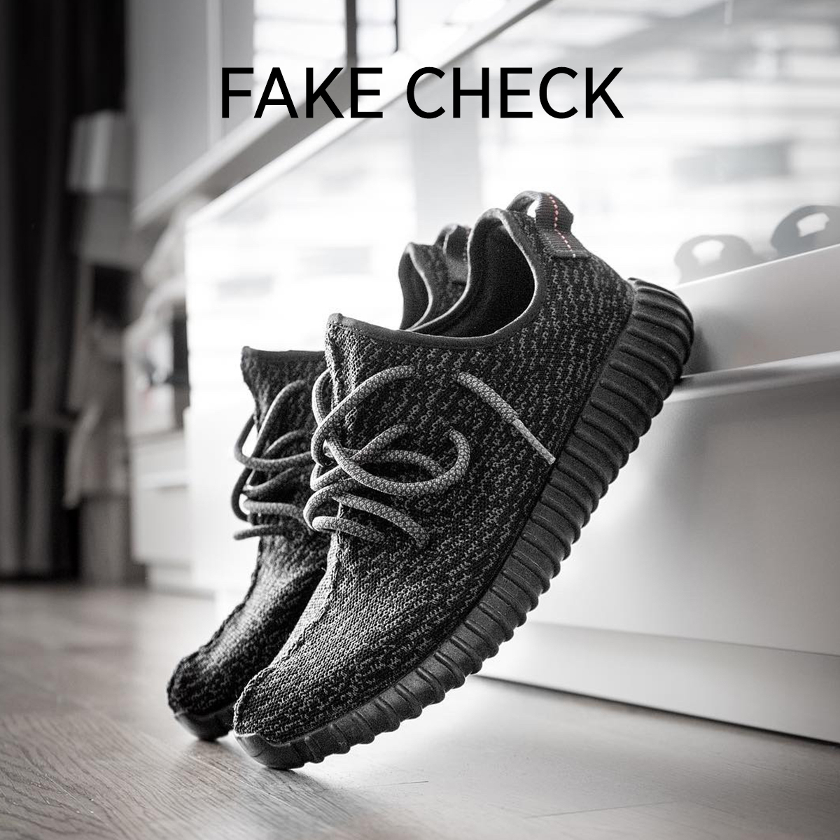 Fake Check Yeezy 350 Pirate Black