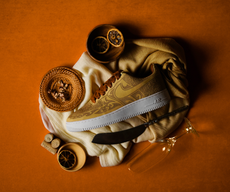 """Mark Smith x Nike Air Force 1 """"Cashmere"""" laser"""