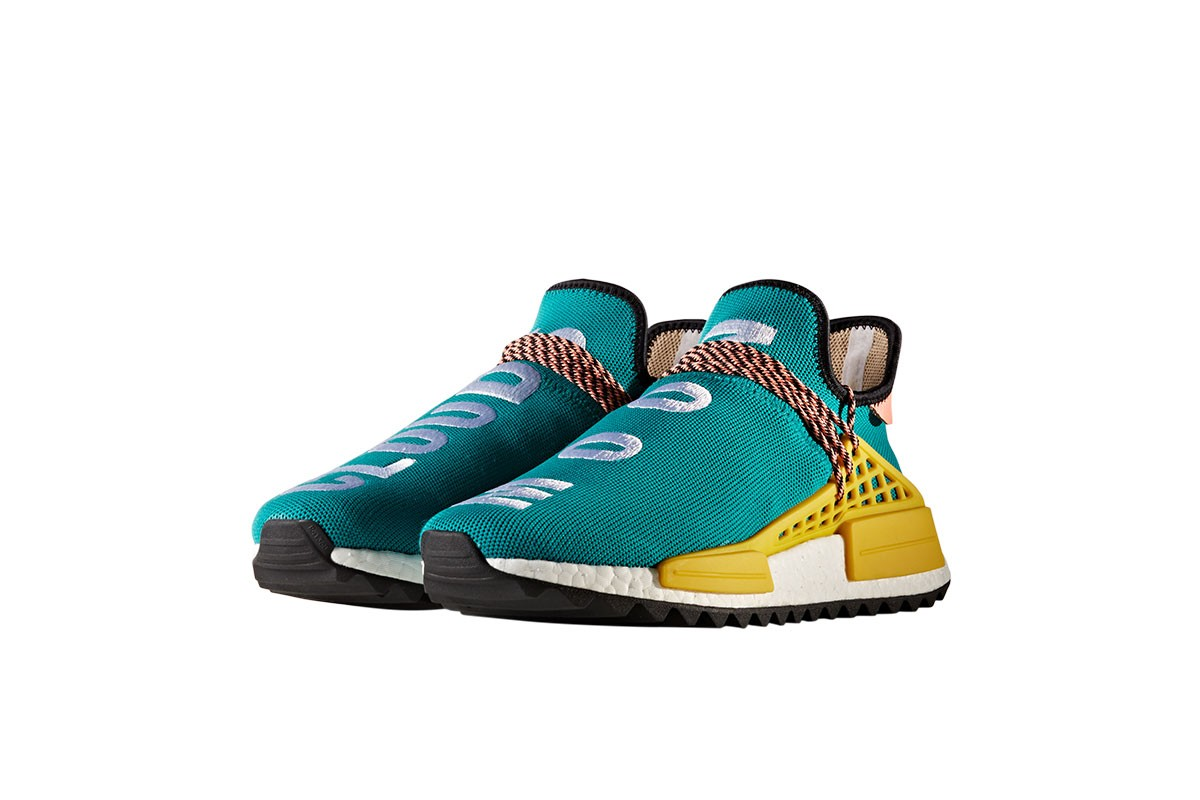 Pharrell x NMD 'Human Race' Adidas BB3070 orange/white