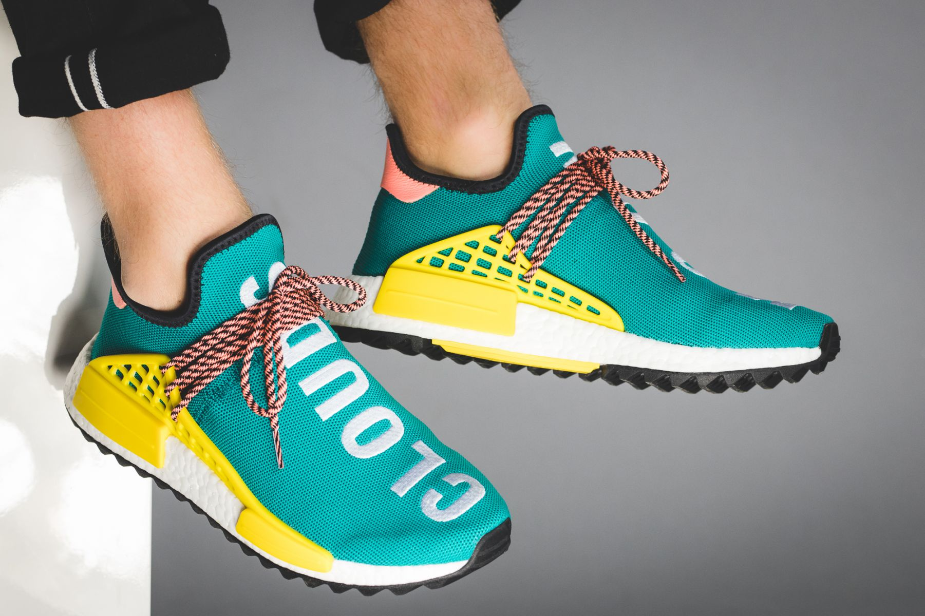 "Pharrell adidas NMD ""Human Race Gets New Green Colorway"